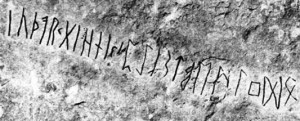 The first known inscription of the Elder Futhark in order (on the Kylver Runestone, Gotland, Sweden, c. 400 CE)