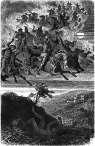 """""""Wodans wilde Jagd"""" by Friedrich Wilhelm Heine (1882)"""