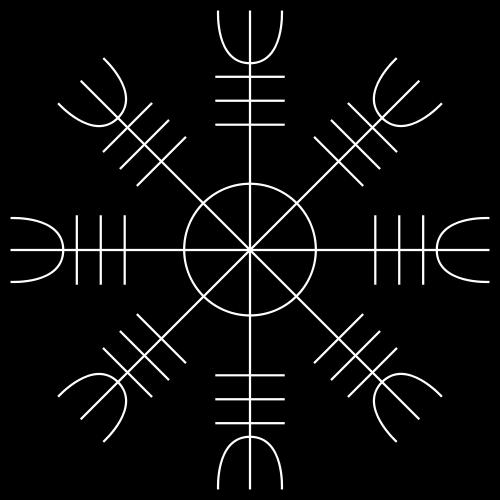 Valknut Helm of Awe Aegishjalmur Odin Icelandic Celtics Knotwork